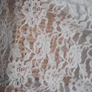 "Fabulous Elastic Lace Floral Fabric 55"" Wide 0.55 yd - must read details"