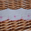 Fabulous Lace Trim Embroidered Embroidery Floral Cotton 2.4 yds Fast Shipping