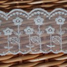 Fabulous Lace Trim Embroidered Floral Mesh 2.2 yds Fast Shipping