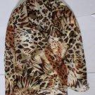 Gift Chiffon Silk Oblong Scarf --- Tiger