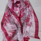 Beautiful Silk Chiffon Oblong Scarf -- Gorgeous -must read details