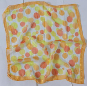 """Gift 21""""  Neck head Scarf Wrap Dots Yellow Orange ... ... Fast Shipping"""