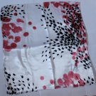 "Gift 20"" Scarf Wrap Kerchief Bandanna Pink Black with defects - must read details"