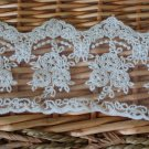 "Fabulous lace trim Embroidered Floral on Mesh 3.15"" Wide 1 yds Fast Shipping"