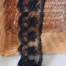 Fabulous Black lace trim Embroidered Floral on Mesh 3.15&quot; Wide 1 yds Fast Shipping