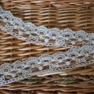 "Fabulous lace trim Embroidered Floral on Mesh  1.4"" Wide 2.2 yds Fast Shipping"