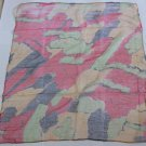 100% Silk Neck Head Scarf Kerchief with Golden Stripes/Drops Lovely - must read details