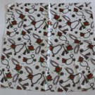 Gift 20&quot; Neck Head Scarf Wrap Kerchief Red Flowers Fast Shipping