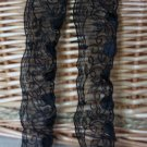 """Beautiful Black Embroidered on Mesh lace trim 1.5"""" Wide 2.6 yds Fast Shipping"""