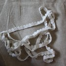 "Beautiful Crocheted Cotton lace trim 0.39"" Wide 1.6 yds Fast Shipping"