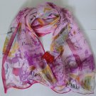Gift Silk Like Chiffon Oblong Scarf -- Paris Fast Shipping