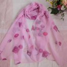 Gift Silk Chiffon Oblong Scarf Pink Candy Fast Shipping