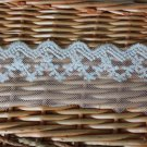 Fabulous Lace Trim Embroidered Floral Mesh Tulle 2 yd Fast Shipping