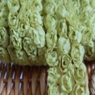 "Rose 3D 3-Row Lace Trim Flowers Rosette on Mesh 1.7"" Wide 1 Yd - have severe color deviation"