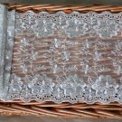 """Lace Trim Embroidered on Mesh Scalloped Floral 5.8"""" wide 1 Yds Fast Shipping"""