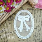 Lovely Appliques Patch Embroidered bow on Mesh 2 pcs Fast Shipping