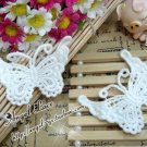 Lovely Cotton Venise Appliques Patch Retro Butterflies 2 pcs Fast Shipping