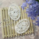 Off-white Cotton Venise Appliques Patch Flowers 2 pcs -must read details