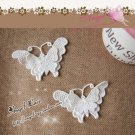 Lovely Cotton Venise 3D Butterflies Appliques Patch 2 pcs -have color deviation