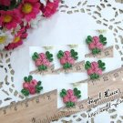 Lovely Appliques Patch 3D Flowers 6 pcs - Fast Shipping
