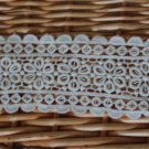 """Beautiful Cotton Venise Lace Trim Flowers 2"""" wide  0.66 Yds Fast Shipping"""