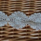 "Beautiful Cotton Venise Lace Trim Flowers 1.97"" wide 0.8 Yds Fast Shipping"