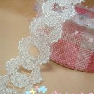 Fabulous Lace Trim Appliques Patches 1.6 yds Fast Shipping