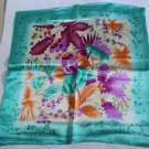 "Gift 20"" Neck Head Scarf Wrap Kerchief tropic plants-two uneven borders"