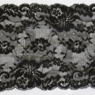 "Fabulous Black Lace Trim Floral 6.3"" Wide 1.1 yds Fast Shipping"