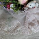 Fabulous Lace Trim Embroidered Flowers on Mesh Tulle  6.5&quot; Wide 1 yds Fast Shipping