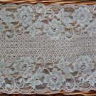 "Fabulous Stretch Elastic Lace Trim Floral 5.98"" Wide 1.1 yds Fast Shipping"