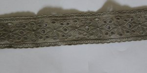 "Fabulous Cotton Trim Embroidered Floral Hollow 1.57"" Wide 0.77 yds Fast Shipping"