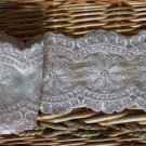 "Fabulous Lace Trim Embroidered Floral 3.62"" Wide 2.2 yds Fast Shipping"