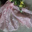 "Fabulous Wide Lace Trim Embroidered Floral  9.3"" Wide 1.1 yds Fast Shipping"
