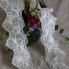 "Fabulous Lace Trim Embroidered Floral 2.4"" Wide 1.9 yds Fast Shipping"