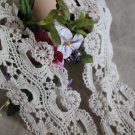"Lovely Cotton Venise Lace Trim Floral 2.76"" Wide 1.95 yds Fast Shipping"