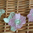 Lovely Appliques Patches Venise Pink Flowers 6 pcs Fast Shipping