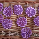 Lovely Appliques Patches Embroidered Flowers 10 pcs Fast Shipping