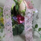 "Fabulous Lace Trim Embroidered Floral  1.18"" Wide 1 yds Fast Shipping"