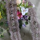 "Fabulous Lace Trim Embroidered Floral and Insertion 1.69"" Wide 1.6 yds Fast Shipping"