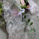 "Fabulous Lace Trim Embroidered Floral 3.2"" Wide 1.76 yds Fast Shipping"