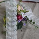"""Fabulous Lace Trim Embroidered Floral 2.17"""" Wide 1.5 yd Fast Shipping"""