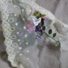 "Fabulous Lace Trim Embroidered Floral 3.94"" Wide 1.7 yd Fast Shipping"