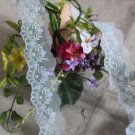 "Fabulous Lace Trim Embroidered Floral 1.46"" Wide 1.6 yds Fast Shipping"