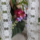 "Fabulous Lace Trim Embroidered Floral 1.5"" Wide 1 yd Fast Shipping"