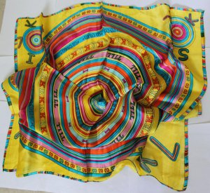 "Gift 33"" 100% silk Scarf Wrap Bandana Kerchief Beautiful Fast Shipping"