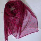 Gift 100% Silk Neck Head Scarf Wrap Belt Small Leaves Fast Shipping