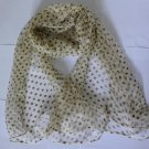 Gift 100% Silk Neck Head Scarf Wrap Belt Dots Fast Shipping