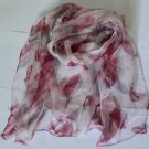 Gift 100% Silk Neck Head Scarf Wrap Belt Floral Fast Shipping