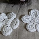 Lovely Flowers Appliques Patches collars 2 pc Crochet Fast Shipping
